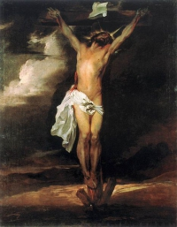 Crucifixion painting by Anthony van Dyck circa 1622